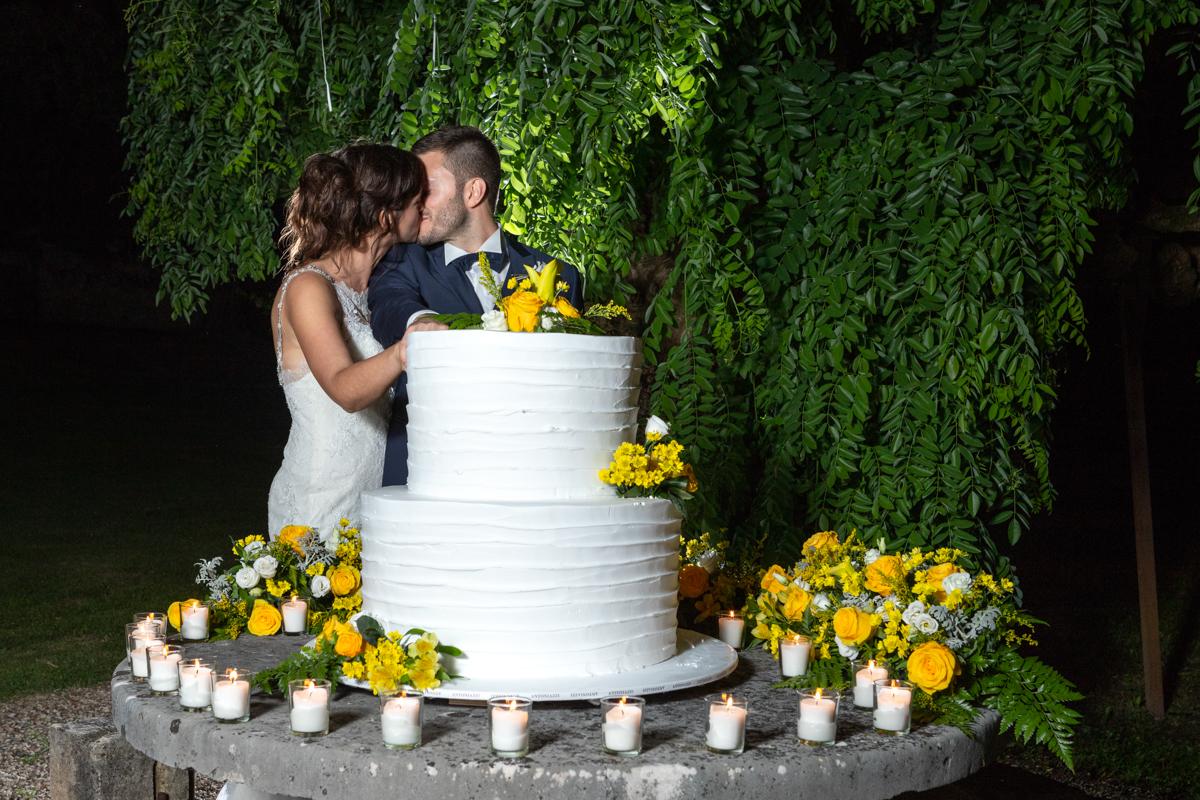 taglio della torta nozze